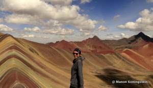Rainbow mountains in Peru